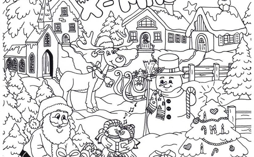 Kleurplaten Voor Kerst.Kerst Kleurplaten Kleuren Crea Met Kids